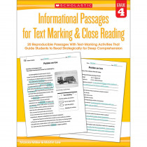 SC-579380 - Gr 4 Informational Passages For Text Marking & Close Reading in Comprehension