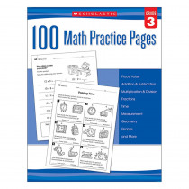 SC-579939 - 102 Math Practice Pages Gr 3 in Activity Books