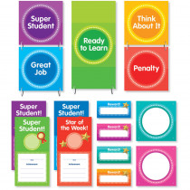 SC-812789 - Color Your Classroom Behavior Clip Chart Mini Bulletin Board in Classroom Theme
