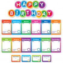 SC-812790 - Color Your Classroom Birthdays Mini Bulletin Board in Classroom Theme