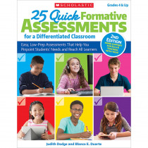 SC-813516 - 25 Quick Formative Assessments Differentiated Classroom in Differentiated Learning