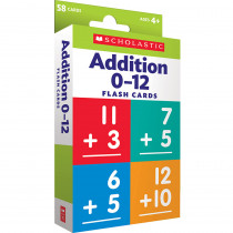SC-823354 - Flash Cards Addition 0 To 12 in Letter Recognition