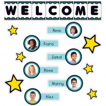 SC-823620 - Aqua Oasis Welcome Bulletin Board in Classroom Theme