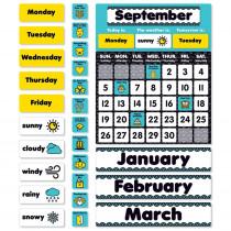 SC-823621 - Aqua Oasis Calendar Bulletin Board in Classroom Theme