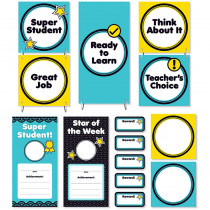 SC-823631 - Aqua Oasis Behavior Clip Chart Mini Bulletin Board in Classroom Theme