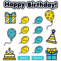SC-823632 - Aqua Oasis Birthday Graph Bb in Classroom Theme