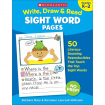 SC-830629 - Write Draw & Read Sight Word Pages in Sight Words