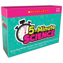 5-Minute Science: Grades 1-3 - SC-833011 | Scholastic Teaching Resources | Activity Books & Kits