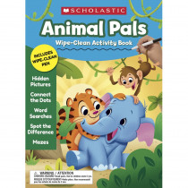 Animal Pals Wipe-Clean Activity Book - SC-857236 | Scholastic Teaching Resources | Resources