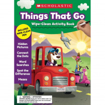 Things That Go Wipe-Clean Activity Book - SC-857237 | Scholastic Teaching Resources | Resources