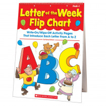 SC-9780545224178 - Letter Of The Week Flip Chart in Letter Recognition