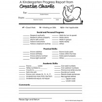 SE-1017 - Kindergarten Progress Report Notes From Creative Charlie in Progress Notices