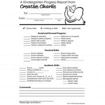 SE-1017 - Kindergarten Progress Report Notes From Creative Charlie in Progress Notices
