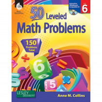 SEP50778 - 55 Leveled Math Problems Level 6 W/ Cd in Books W/cd