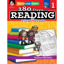 SEP50922 - 180 Days Of Reading Book For First Grade in Reading Skills