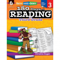 SEP50924 - 180 Days Of Reading Book For Third Grade in Reading Skills