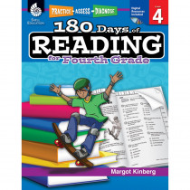 SEP50925 - 180 Days Of Reading Book For Fourth Grade in Reading Skills