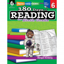 SEP50927 - 180 Days Of Reading Book For Sixth Grade in Reading Skills