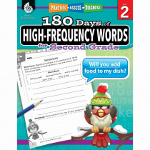SEP51635 - 180 Day High Freq Words Gr2 Workbk in Sight Words