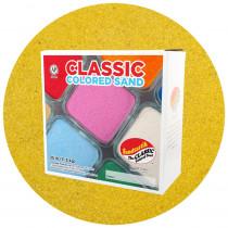 Classic Colored Sand, Yellow, 25 lb (11.3 kg) Box - SNDCS2507   Sandtastik   Sand