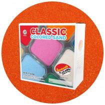 Classic Colored Sand, Orange, 25 lb (11.3 kg) Box - SNDCS2509   Sandtastik   Sand