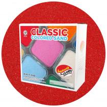 Classic Colored Sand, Red, 25 lb (11.3 kg) Box - SNDCS2514 | Sandtastik | Sand