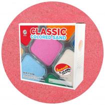 Classic Colored Sand, Pink, 25 lb (11.3 kg) Box - SNDCS2517   Sandtastik   Sand