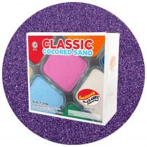 Classic Colored Sand, Purple, 25 lb (11.3 kg) Box - SNDCS2520   Sandtastik   Sand