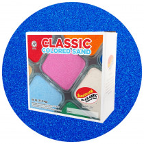 Classic Colored Sand, Blue, 25 lb (11.3 kg) Box - SNDCS2522   Sandtastik   Sand