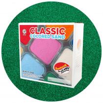 Classic Colored Sand, Emerald Green, 25 lb (11.3 kg) Box - SNDCS2529 | Sandtastik | Sand