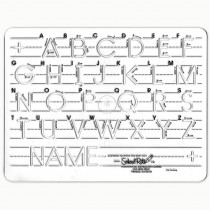 SR-1051 - Template Mauscript Uppercase 1 Letters in Handwriting Skills