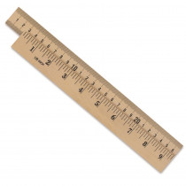 STP34039 - Wooden Meter Stick Plain Ends in Rulers