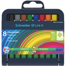 STW192098 - Linkit 1.0Mm Fiber Pen 8 Colors Schneider in Pens