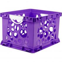 STX61459U03C - Premium File Crate W Handles Purple Classroom in Storage
