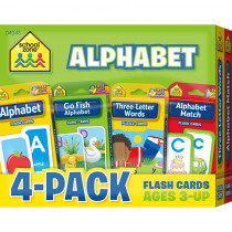 SZP04043 - Alphabet Flash Cards 4 Pk in Letter Recognition