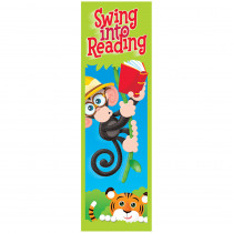 T-12042 - Swing Into Reading Monkey Mischief Bookmarks in Bookmarks