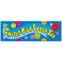 T-12701 - Smile God Loves You Bookmark in Inspirational