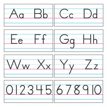 T-1858 - Bb Set Manuscript Zaner-Bloser 18 in Alphabet Lines
