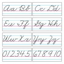 T-1859 - Bb Set Cursive Zaner-Bloser 18 in Alphabet Lines