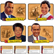 T-1894 - Bulletin Board Set African-American Achievers 12 Realistic Portraits in Social Studies