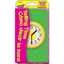 T-23037 - Pocket Flash Cards Telling Time Como Decir La Hora in Flash Cards