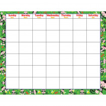 T-27006 - Monkey Mischief Wipe-Off Monthly Calendar Grid in Calendars