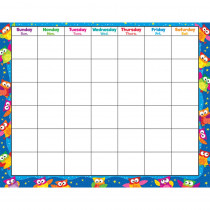 T-27015 - Owl Stars Monthly Wipe Off Calendar in Calendars