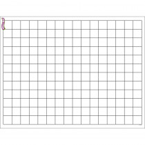 T-27305 - Graphing Grid Small Squares Wipe Off Chart 17X22 in Dry Erase Sheets