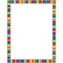 T-27343 - Stripe-Tacular Candy Wipe Off Chart in Classroom Theme