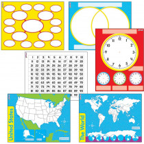 T-27905 - Wipe Off Charts & Maps Combo Pack in Dry Erase Boards