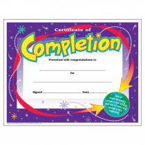 T-2963 - Certificate Of Completion 30/Pk in Certificates