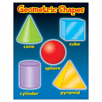 T-38018 - Chart Geometric Shapes Gr 1-4 17 X 22 in Math