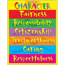 T-38074 - Chart Keys To Character Gr 3-8 17 X 22 in Social Studies