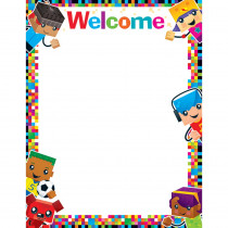 T-38379 - Welcome Blockstars Learning Chart in Classroom Theme